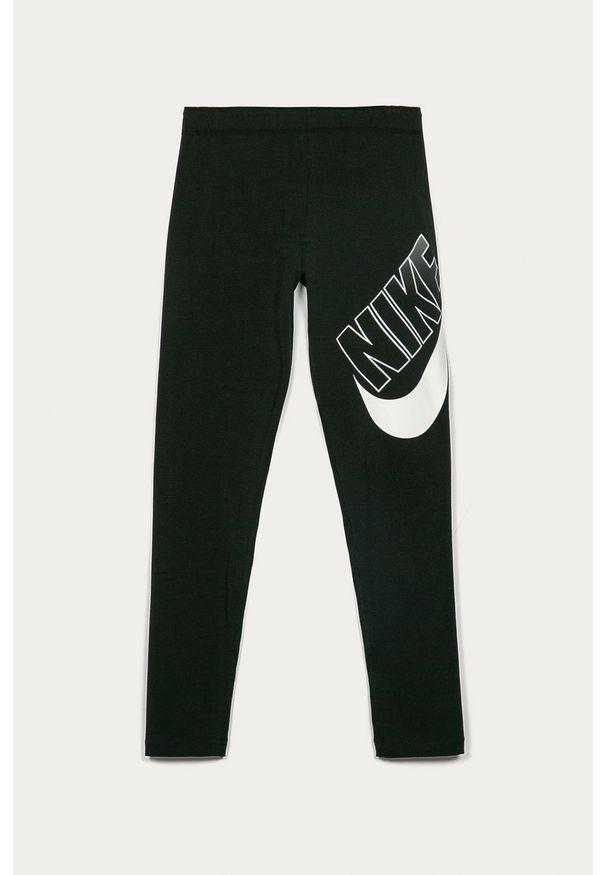 Czarne legginsy Nike Kids z nadrukiem