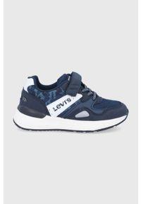 Niebieskie buty sportowe Levi's® na rzepy, z cholewką