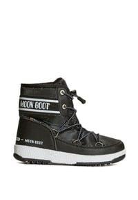 Moon Boot - Buty MOON BOOT JR BOY MID WP 2. Okazja: na spacer. Materiał: skóra ekologiczna, nylon, kauczuk. Szerokość cholewki: normalna. Sezon: zima
