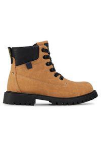 Brązowe buty zimowe Action Boy