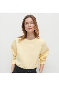 Reserved - Gładka bluza Basic - Żółty. Kolor: żółty. Wzór: gładki