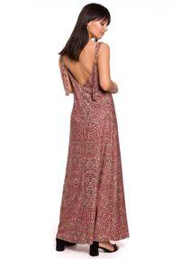 Sukienka na ramiączkach, dopasowana, maxi