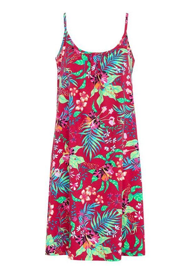 Sukienka Cellbes na plażę, w kolorowe wzory, na ramiączkach
