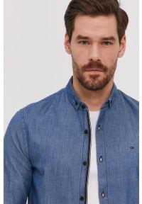 Niebieska koszula Calvin Klein długa, button down