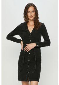 Czarna sukienka Jacqueline de Yong na co dzień, casualowa, mini, prosta