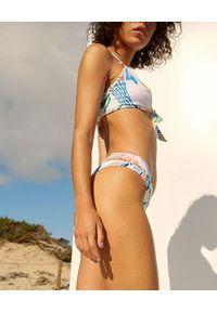 CHARO RUIZ IBIZA - Dół od bikini z grafiką Eli. Kolor: czarny. Materiał: materiał. Wzór: ażurowy, aplikacja