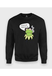 MegaKoszulki - Bluza klasyczna Zielony Kermit. Kolor: zielony. Styl: klasyczny