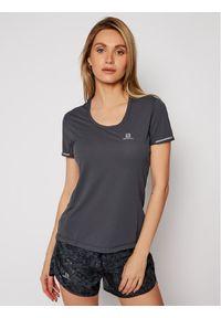 salomon - Salomon T-Shirt Agile LC1159200 Szary Active Fit. Kolor: szary