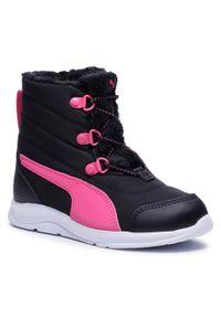 Czarne buty zimowe Puma na spacer