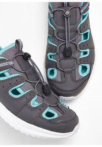 Sandały trekkingowe Lico bonprix szaro-turkusowy. Kolor: szary