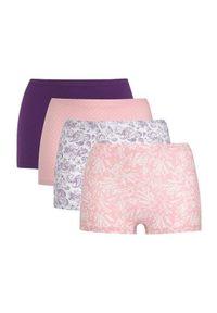 Cellbes Bokserki 4 Pack jasnoróżowy Fioletowy female różowy/fioletowy 38/40. Kolor: różowy, wielokolorowy, fioletowy. Materiał: bawełna, guma