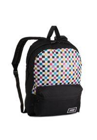 Vans Plecak Glitter Check R VN0A48HGUX91 Czarny. Kolor: czarny
