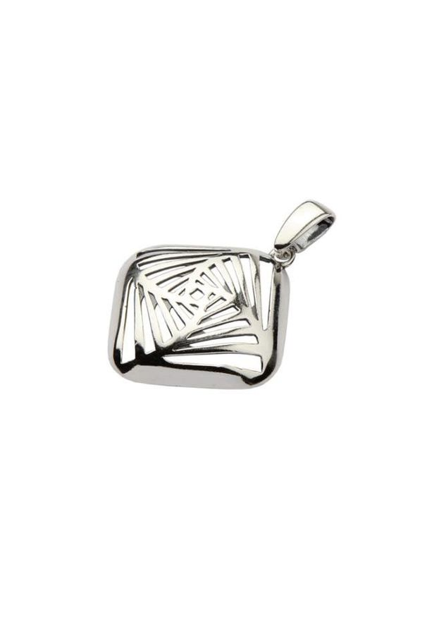Polcarat Design - Srebrny wisiorek W 1710. Materiał: srebrne. Kolor: srebrny
