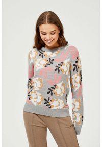 Sweter MOODO w kwiaty
