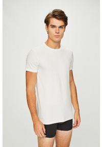Levi's® - Levi's - Piżama. Kolor: biały. Materiał: dzianina. Długość: krótkie