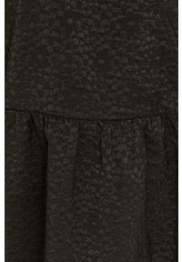 Samsoe & Samsoe - Samsoe Samsoe - Sukienka. Kolor: czarny. Materiał: poliester. Typ sukienki: rozkloszowane #5