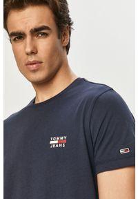 Niebieski t-shirt Tommy Jeans gładki, casualowy, na co dzień #5