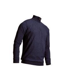 INESIS - Sweter do golfa wiatroszczelny MW500 męski. Typ kołnierza: golf. Kolor: niebieski. Materiał: poliester, materiał, bawełna. Sport: golf
