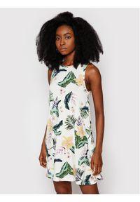 Roxy Sukienka letnia Paradise Isle ERJKD03355 Biały Regular Fit. Kolor: biały. Sezon: lato