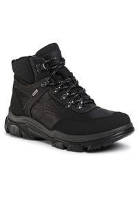 Czarne buty zimowe Imac klasyczne, z cholewką