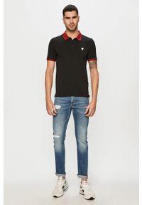 Czarna koszulka polo Guess Jeans polo, krótka