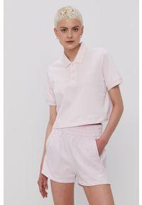 adidas Originals - T-shirt. Kolor: różowy. Materiał: dzianina, poliester. Długość: krótkie. Wzór: gładki