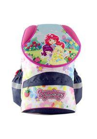 Strawberry Plecak szkolny Shortcake, motyw trzech małych dziewczynek. Wzór: kwiaty