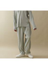 Reserved - Plisowane spodnie kuloty - Jasny szary. Kolor: szary