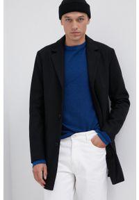 PRODUKT by Jack & Jones - Produkt by Jack & Jones - Płaszcz. Okazja: na co dzień. Kolor: czarny. Materiał: poliester. Styl: casual