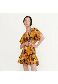 House - Wzorzysta bluzka z kimonowym rękawem - Wielobarwny