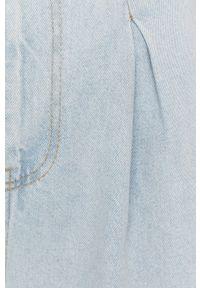 Niebieski jeansy loose fit Answear Lab wakacyjny, w kolorowe wzory