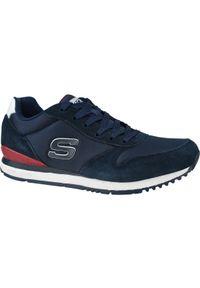 Niebieskie sneakersy skechers z cholewką