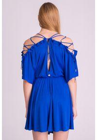 Niebieska sukienka Versace Collection elegancka