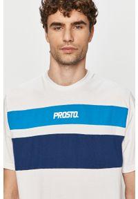Biały t-shirt Prosto. casualowy, z aplikacjami, na co dzień