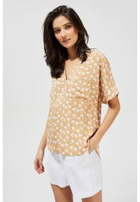 MOODO - Koszula z nadrukiem. Materiał: wiskoza. Długość rękawa: krótki rękaw. Długość: krótkie. Wzór: nadruk