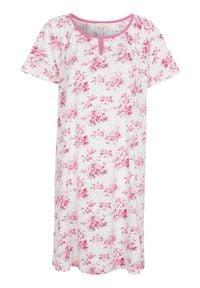 Cellbes Koszula nocna z krótkim rękawem różowy w kwiaty female różowy/ze wzorem 54/56. Kolor: różowy. Materiał: jersey. Długość: krótkie. Wzór: kwiaty