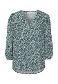 Freequent Bluzka z wiskozy we wzory Bello niebieski we wzory female niebieski/ze wzorem S (38). Typ kołnierza: dekolt w serek. Kolor: niebieski. Materiał: wiskoza