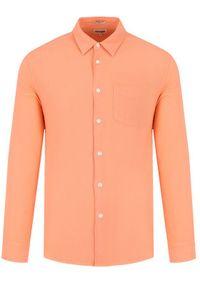 Pomarańczowa koszula casual Wrangler