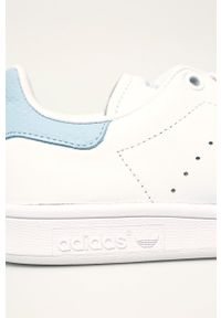 Białe buty sportowe adidas Originals Adidas Stan Smith, na średnim obcasie