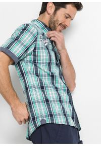 Zielona koszula bonprix krótka, z krótkim rękawem, z aplikacjami