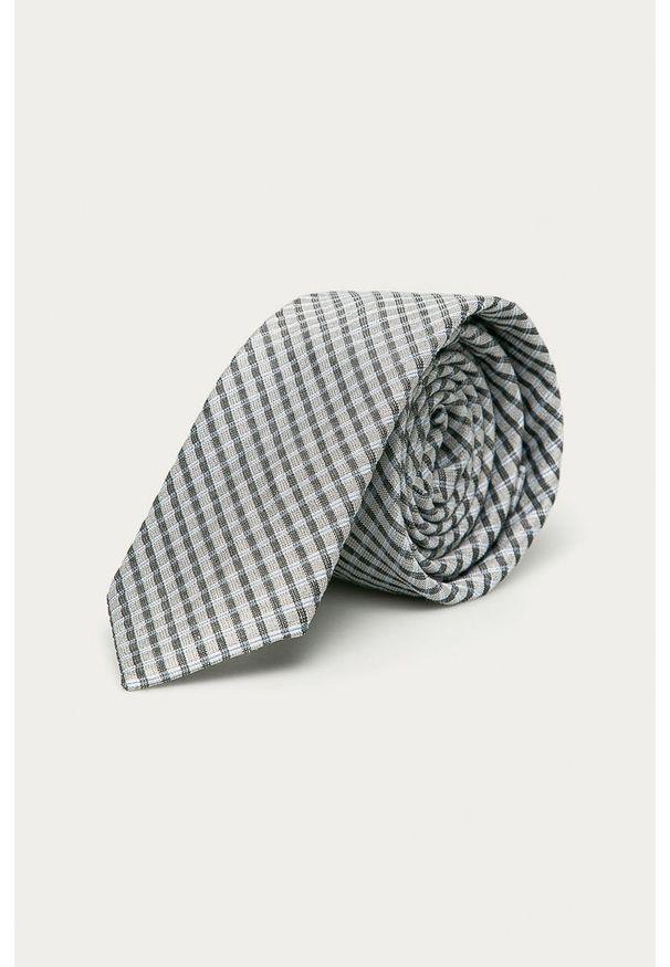 Szary krawat Calvin Klein