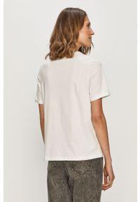 Biała bluzka Pieces z nadrukiem, na co dzień, casualowa #5