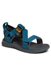 Niebieskie sandały trekkingowe columbia na lato