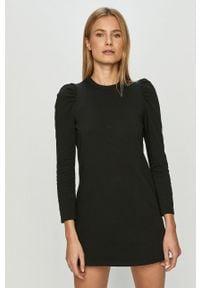 Czarna sukienka Haily's z długim rękawem, mini, prosta
