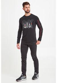 Bluza Armani Exchange w kolorowe wzory, elegancka