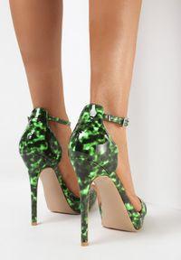 Born2be - Zielone Sandały Nezen. Kolor: zielony