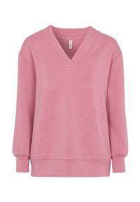 Soyaconcept Wyjątkowo miękka bluza dresowa Banu różowy female różowy S (38). Typ kołnierza: dekolt w serek. Kolor: różowy. Materiał: dresówka