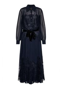 Niebieska sukienka Luisa Spagnoli koszulowa