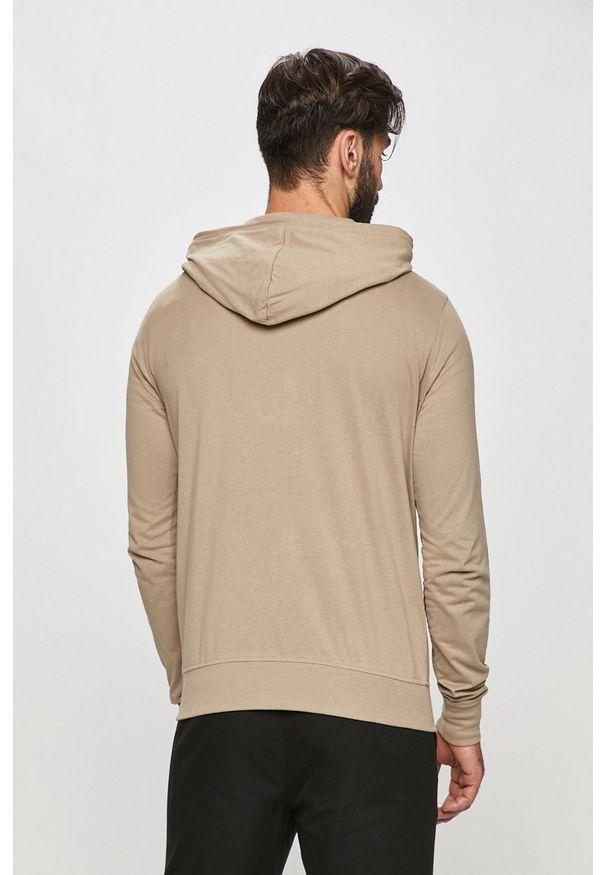 Beżowa bluza rozpinana AllSaints na co dzień, casualowa, z kapturem