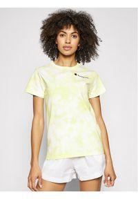Champion T-Shirt Tie Dye Digital Print 113939 Żółty Custom Fit. Kolor: żółty. Wzór: nadruk